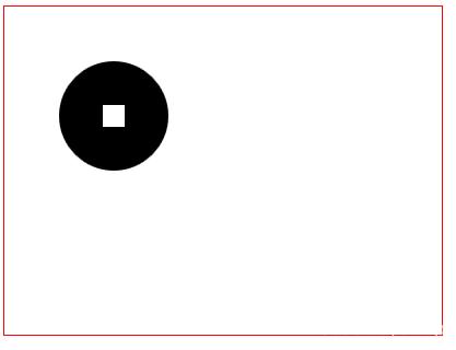 使用clearRect()清除圆心矩形区域的图形